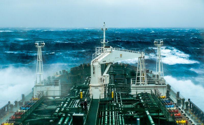 атлантика, океан, переход, танкер, шторм North Roadphoto preview