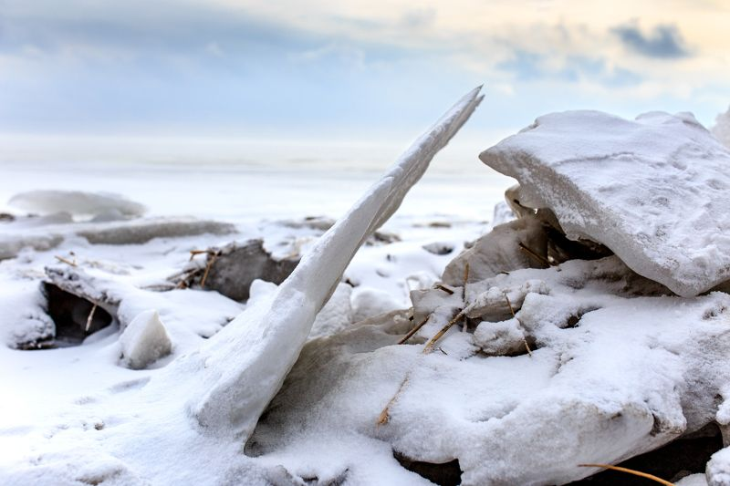 зима, лед, снег, море, пустыня Зимний пейзаж photo preview