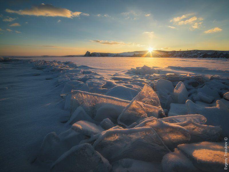 байкал, март, рассвет, лед, снег, солнце, льдины Доброе утро, Байкал!photo preview