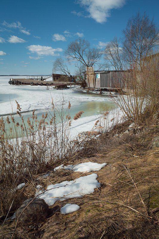 природа, весна, разлив, пейзаж, снег Весна на Волге.photo preview