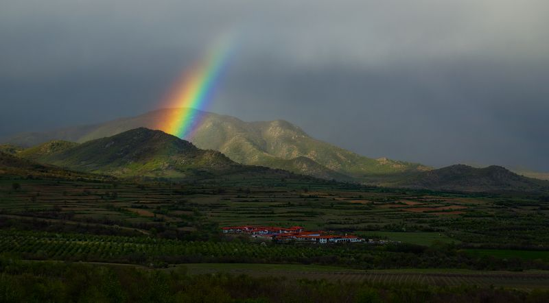 ranbow, clouds, mountain, Bulgaria, starosel, storm, spring,  Чтобы увидеть радугу, надо пережить дождь....photo preview