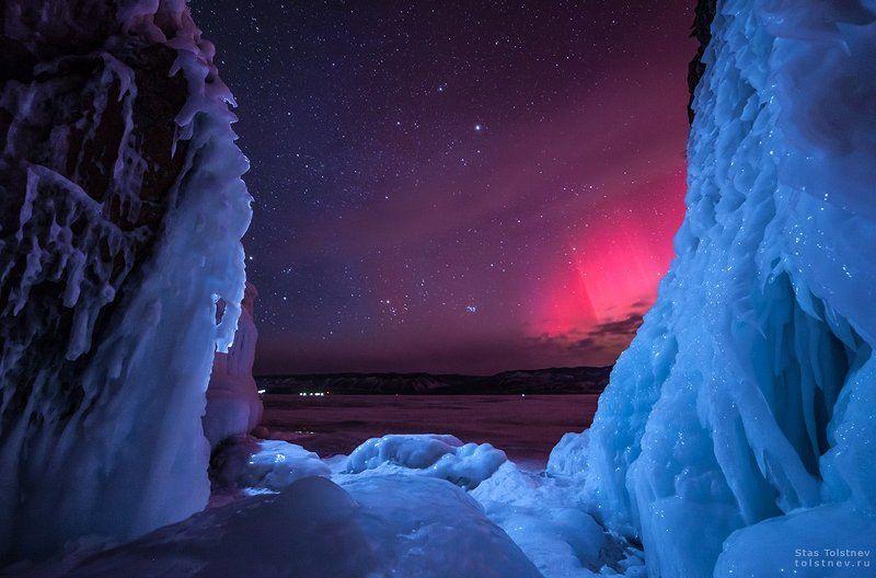 Северной сияние на Байкалеphoto preview