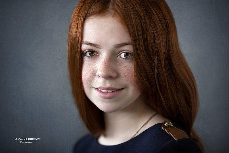 рыженькая, веснушки, портрет Машаphoto preview