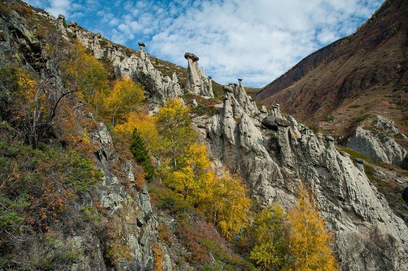 чудеса, природа, алтай, осень, камни, грибы Каменные грибы в долине Чулышманаphoto preview