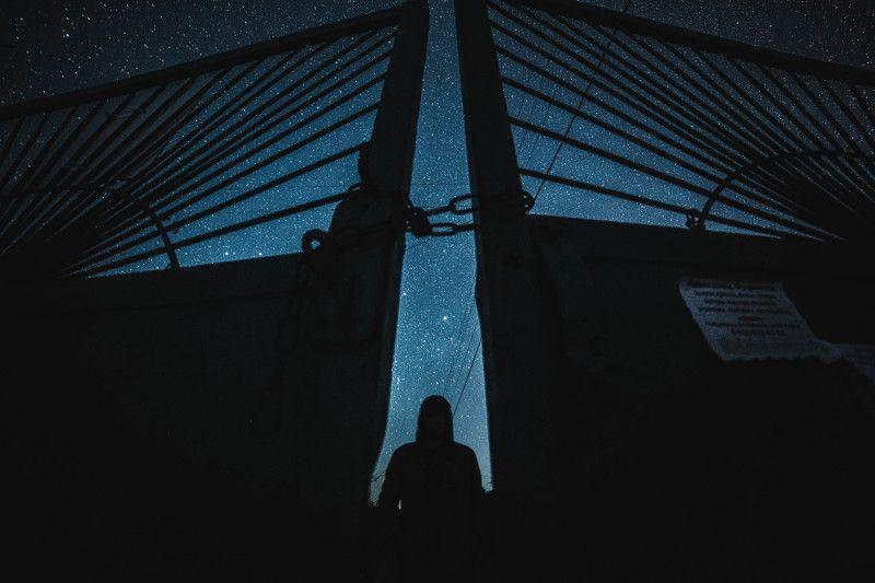 ночь звезды пейзаж арт ночное У входа в космосphoto preview