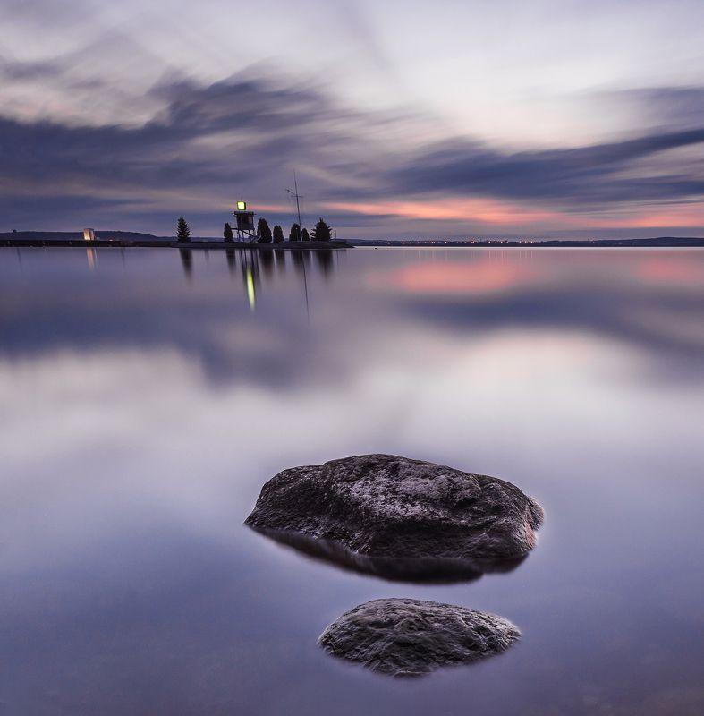 апрель 2017 сумерки минское море выдержка вечер гладь вода Безмятежностьphoto preview