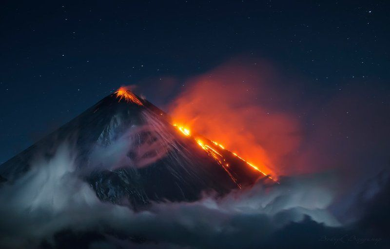 вулкан, ключевской, извержение, лава, ночь, ключевская, сопка, камчатка, 35awards Ключевскойphoto preview