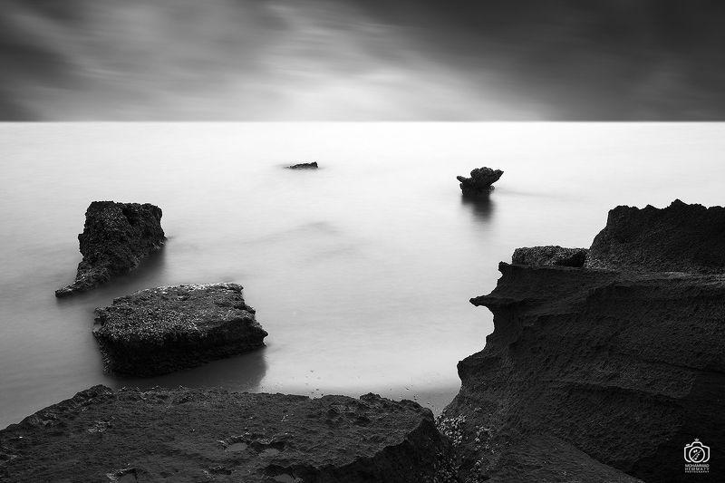sea,nature,rock,water,calm,landscape,iran,dream,fog,abstract,canon,canon80d,canonphotography,blackandwhite,black,white,mphammadhemmatyو Separationphoto preview
