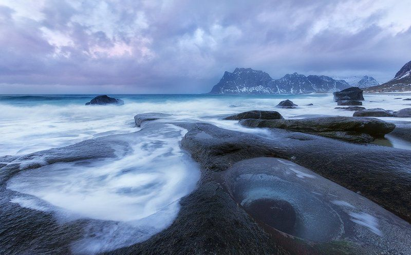 utakleiv, beach, lofoten, norway ***photo preview