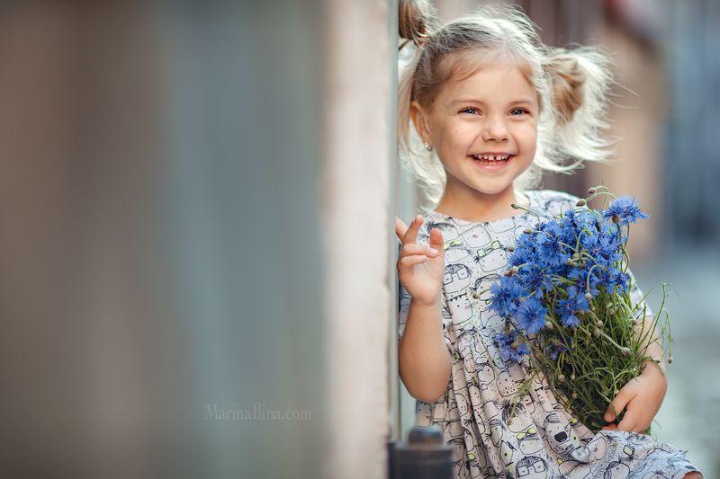 kid, child, children, girl, summer, flowers photo preview