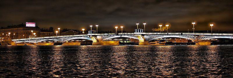 благовещенский, мост, нева, ночь, питер Благовещенский мост.photo preview