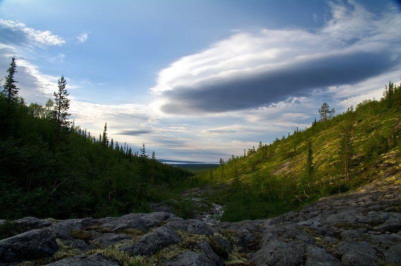 хибины, вечер, облака Вечер полярного дняphoto preview