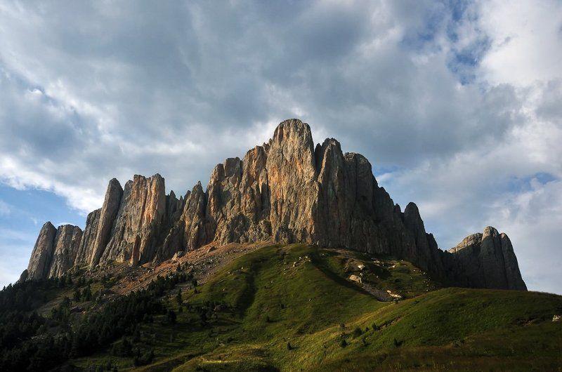 горы, закат, кавказ, заповедник, август Большой Тхач на закатеphoto preview