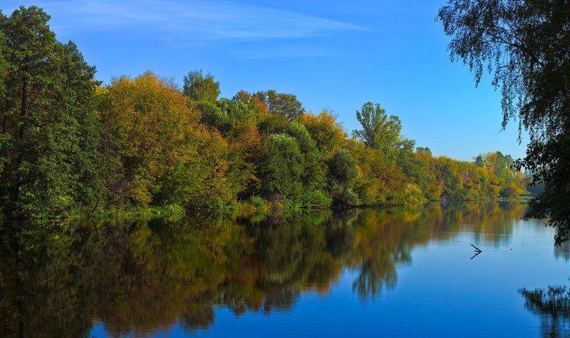осень, пейзаж, речка осень 2010, р.Пехорка, Балашиха МОphoto preview