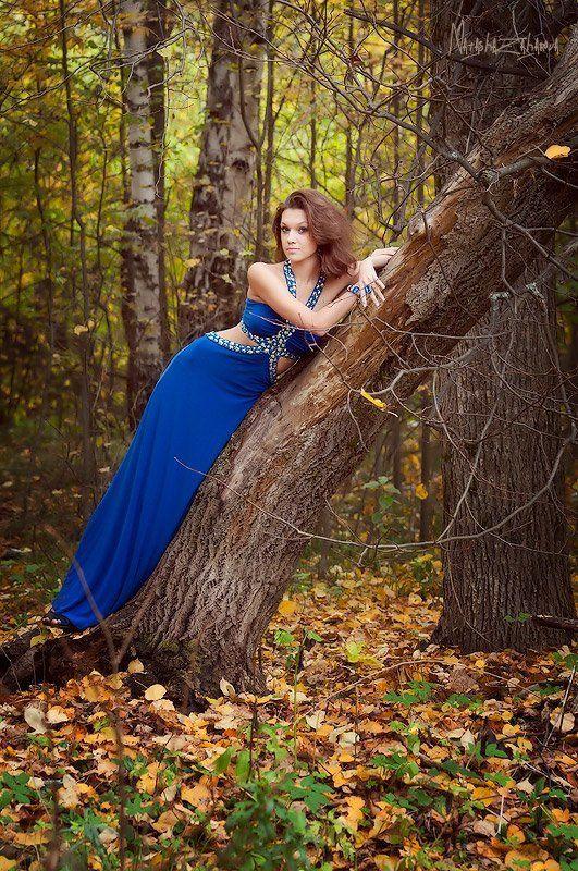 осень, девушка, сапфир, синий Осенний сапфир...photo preview