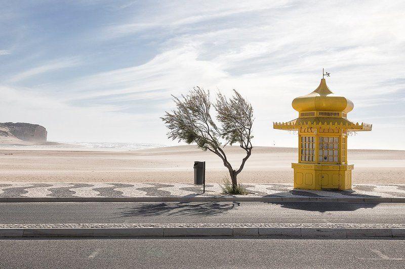 kiosk, do, arelho, foz, portugal, red, sky, colorful, travel, outdoor, architecture Dreamphoto preview