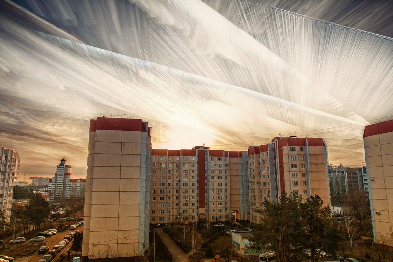 природа, облака, красота, небо, пейзаж, городской пейзаж Небесные перьяphoto preview