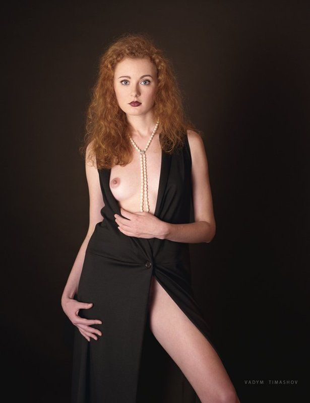 art, beauty, nude, print, portrait, color, film, red hair *****photo preview