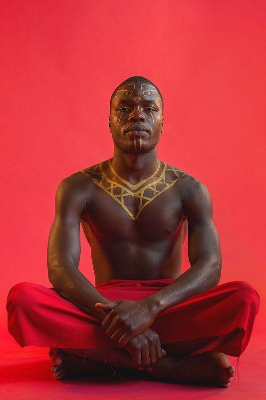 темнокожий, красное, этно, этнический, африканец, Африка, афроамериканец, Ангола, ангольский, мужчина, парень, Afrika, Angola, dark, man, Margarita Guseva, Маргарита Гусева photo preview
