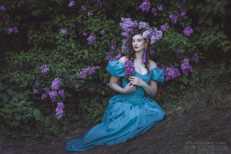 женщина, сирень, портрет, Сиреньphoto preview