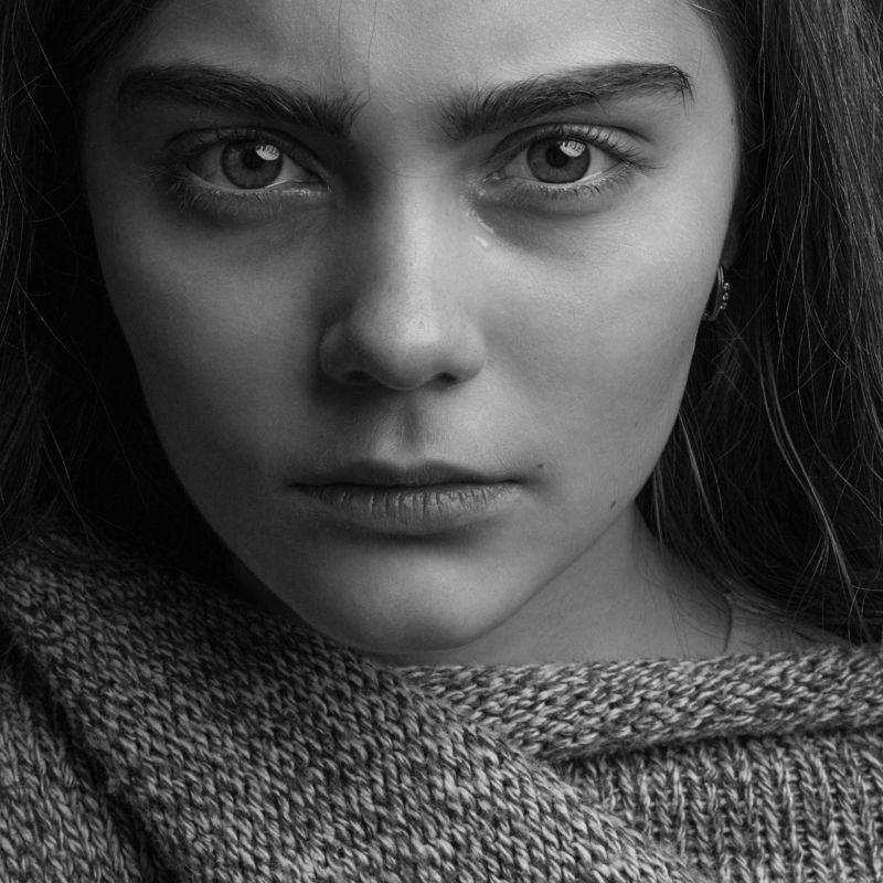портрет, девушка, слезы, чб Слезы Настиphoto preview