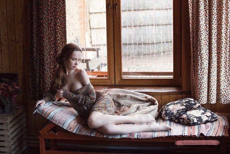 girl, beautiful, light, sunlight, hair, nude, nu, обнаженнаянатура  ***photo preview