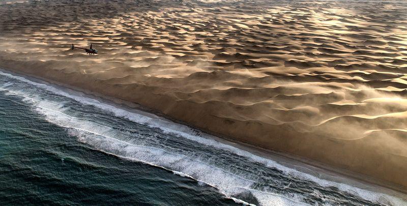 пустыня, дюны, песок, съемка с воздуха, намибия Над Берегом Скелетовphoto preview