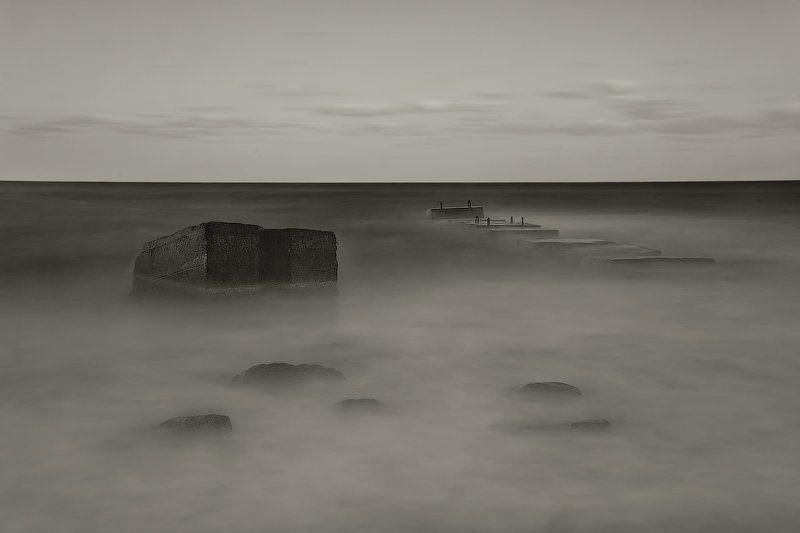 шторм, море, выдержка,мол photo preview