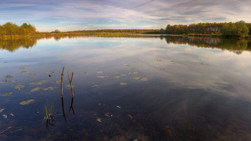 осень, озеро, вечер осеньюphoto preview