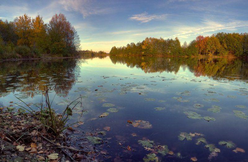 осень, пейзаж, озеро прогулка осеньphoto preview