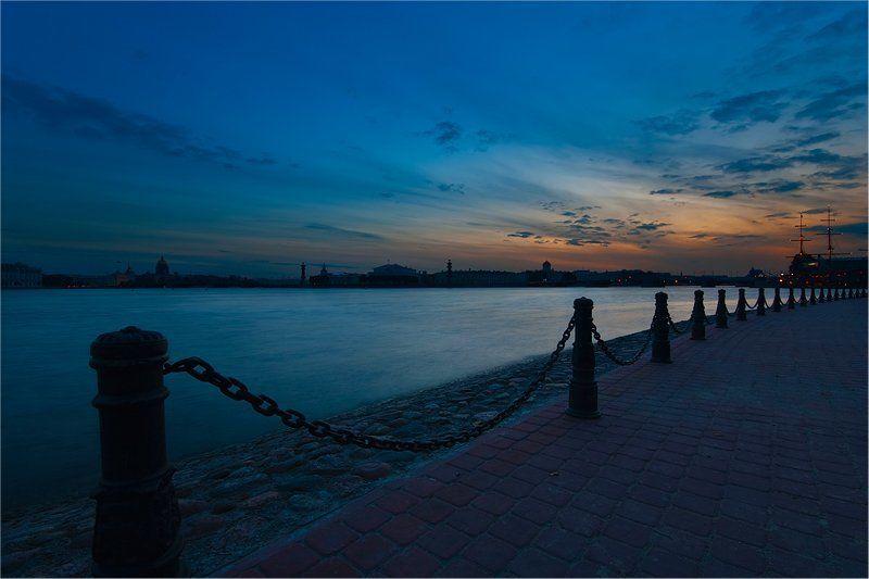 питер, петербург, стрелка, ночь, город Ночная Стрелкаphoto preview