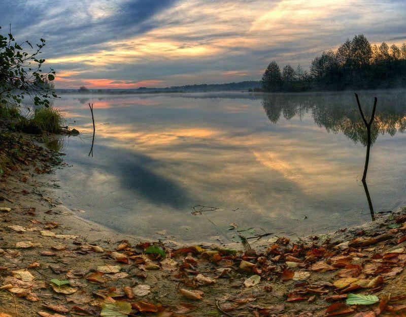 рассвет, пейзаж, осень встречая новый день #2photo preview