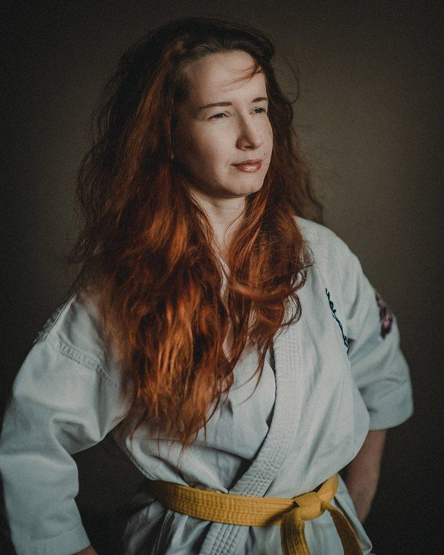 карате, кекусинкай, портрет, девушка, спорт, жизнь Желтый пояс Марииphoto preview