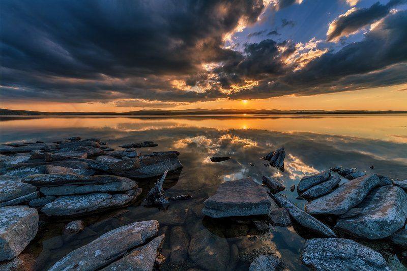 закат, озеро, лето Закаты Большого Кисегача. Часть 1photo preview
