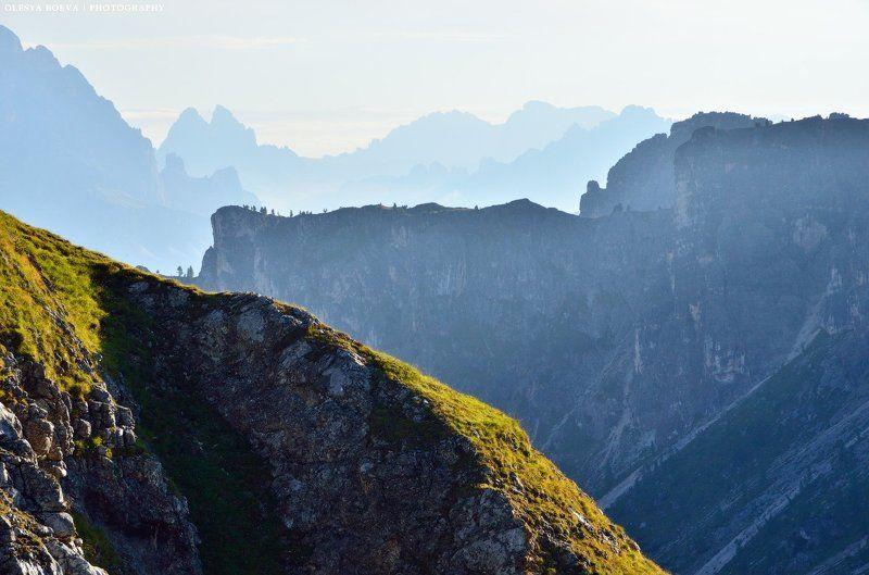 горы, италия, утро, свет, mountains, italy, morning Линии горphoto preview