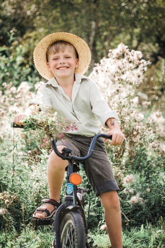 лето bike happiness boy summer portrait annromanovska smile Летние денькиphoto preview