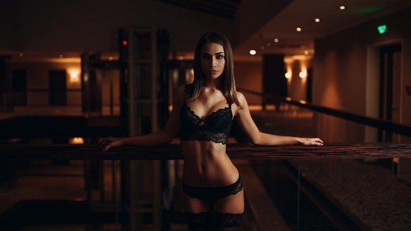 Девушка, белье, интерьер, свет, тело Катяphoto preview