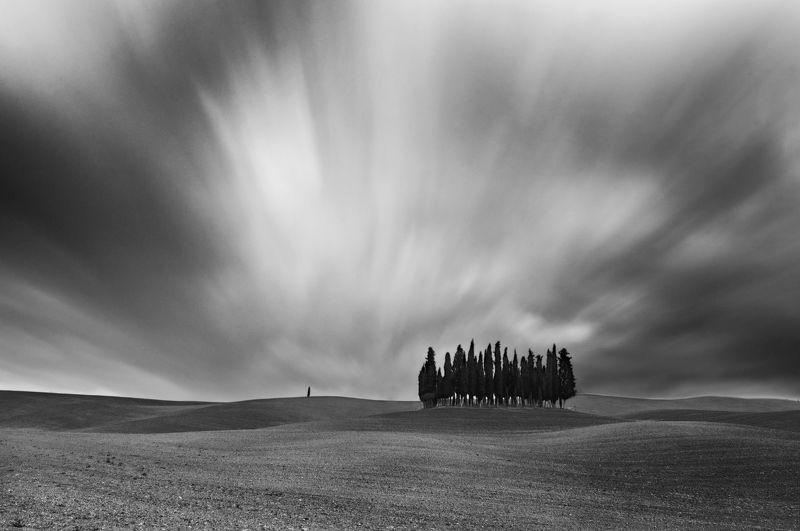 Тоскана , Италия Монохромная Тосканаphoto preview