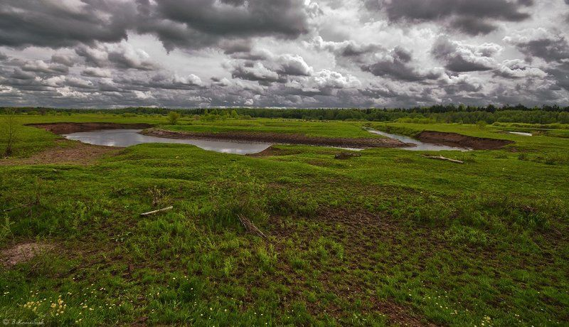 весна, река, пейзаж, природа Под лоскутным одеялом...photo preview
