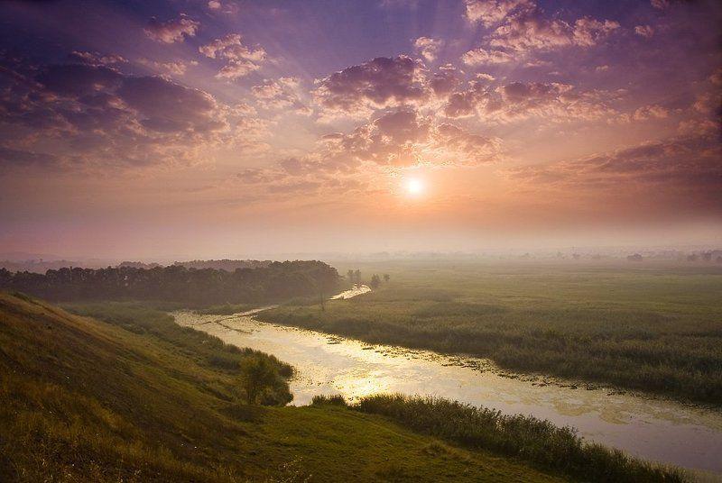 бежала речка золотая по степи. . .photo preview