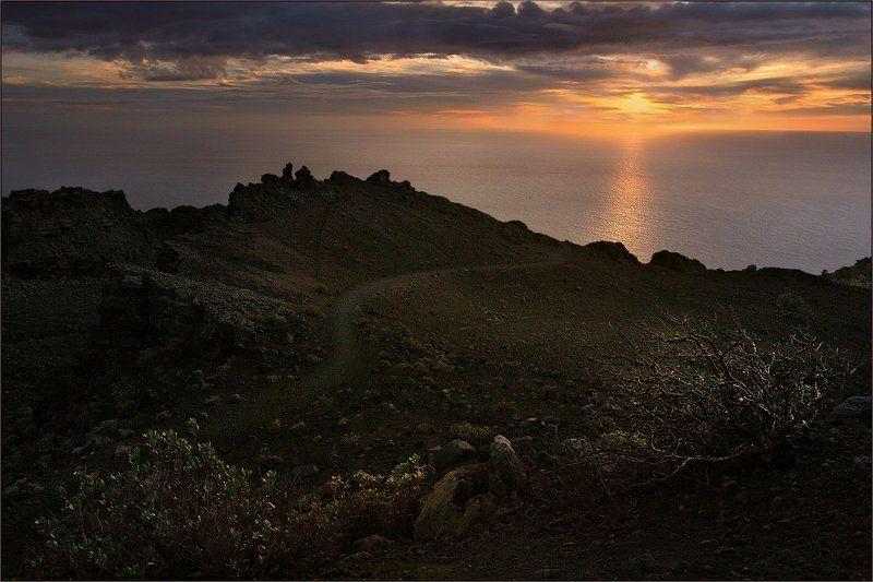 канарский, остров, ла, пальма Вулканическая закатная симфонияphoto preview