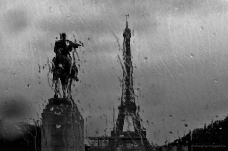париж, эйфелева башня, памятник жоффре, стекло, дождь, слезам, не верит Париж слезам не веритphoto preview