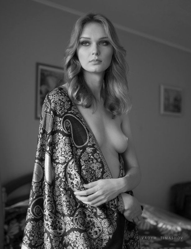 art, beauty, nude, print, portrait, vadym timashov, black and white, film, model *****photo preview