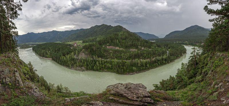 алтай катунь бирюза гроза лето Гроза над Катуньюphoto preview