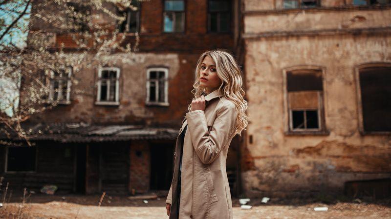 портрет, девушка, улица, цвет, Полинаphoto preview