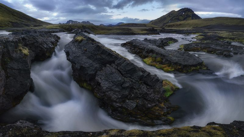 iceland, waterfall, trave, 2017, brizmaker, photo Потокphoto preview