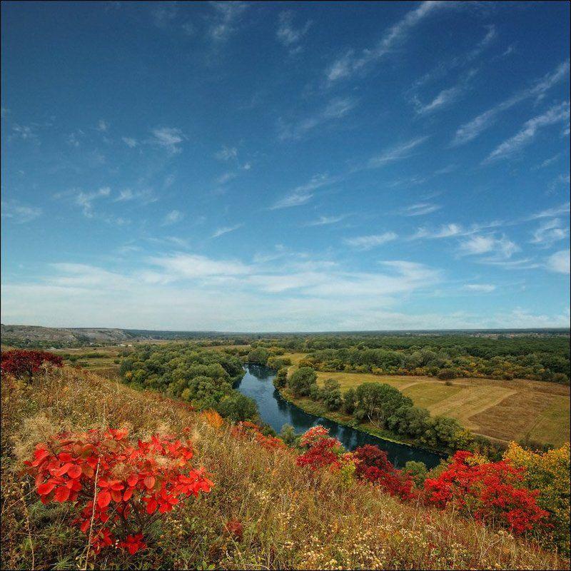 река, северский-донец, меловые, горы Степной заповедник \