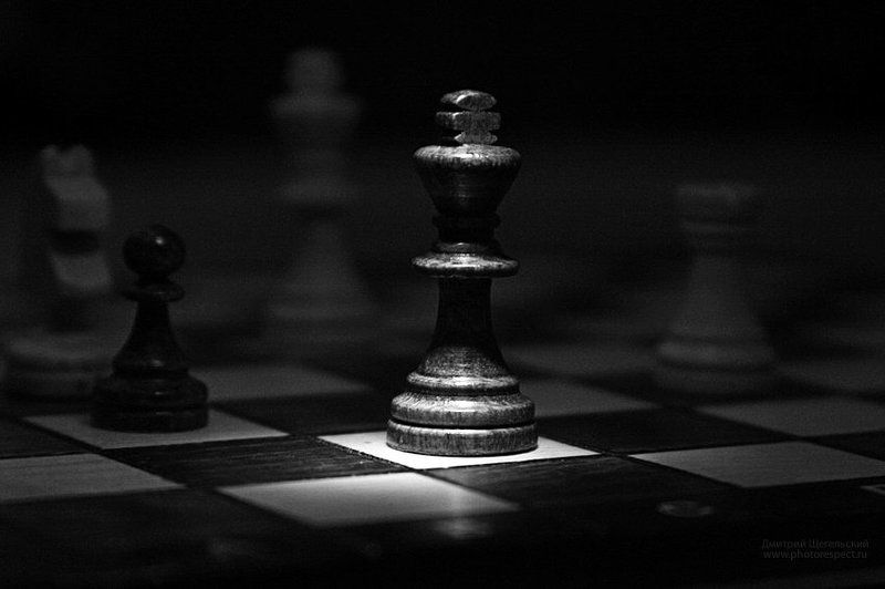 эндшпиль, шахматы, король, конь, пешка Эндшпильphoto preview