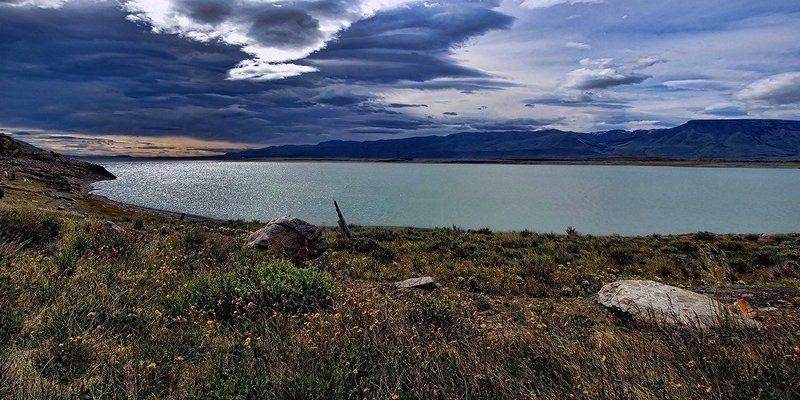 озеро, пейзаж, облака Озёрныйphoto preview