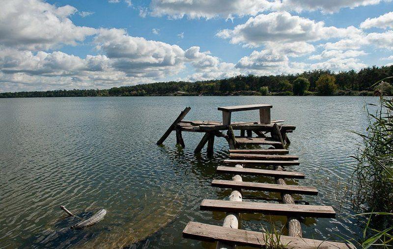 озеро, облака, осень ***photo preview